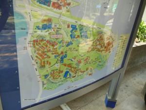 広い敷地のシンガポール大学